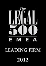 The Legal 500 EMEA, Leading Firm 2012