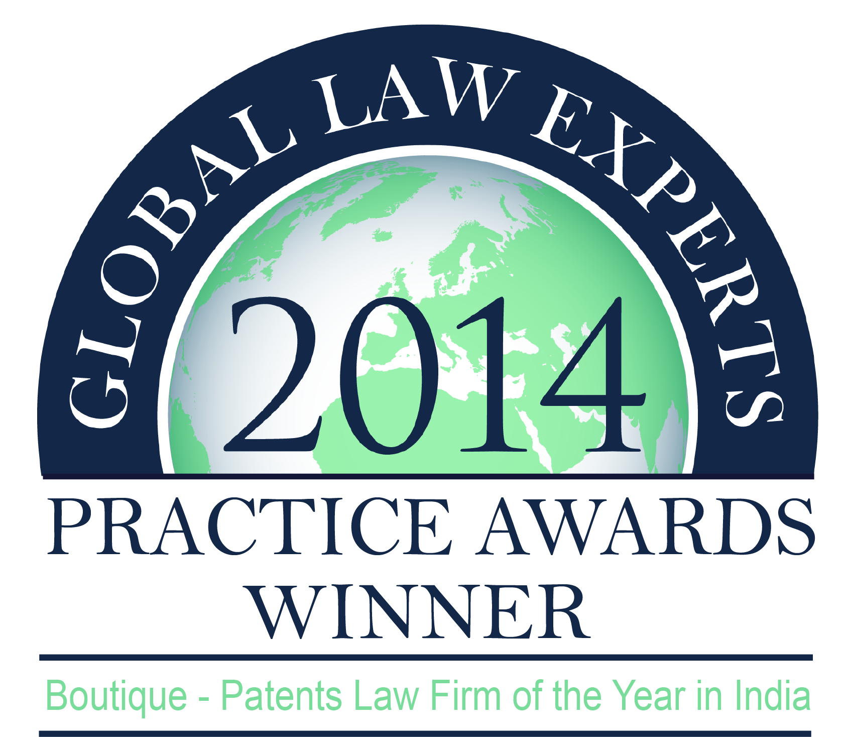 Global Law Express 2014, Practice Awards Winner - Boutique Patents Law Firm of the Year in India