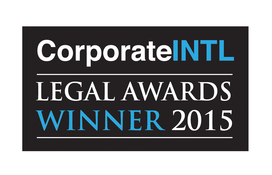 Corporate INTL Legal Awards, Winner 2015